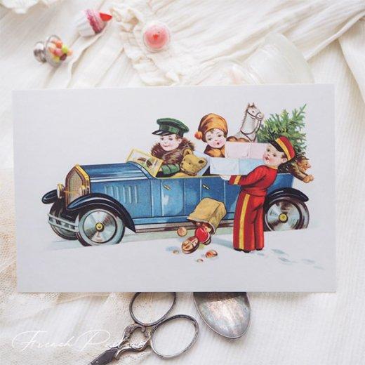 フランス クリスマスポストカード  (cadeau de Noëlクリスマスプレゼント ベア)【画像5】