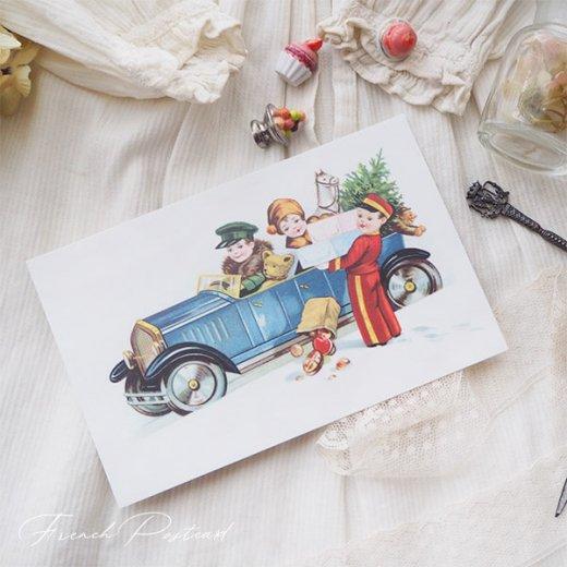 フランス クリスマスポストカード  (cadeau de Noëlクリスマスプレゼント ベア)【画像6】