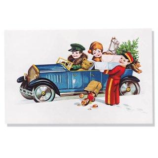 フランス クリスマスポストカード  (cadeau de Noëlクリスマスプレゼント ベア)
