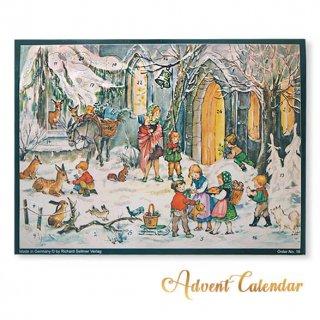 クリスマスアドベントカレンダー ドイツ クリスマス アドベントカレンダー【M】<森  うさぎ 子鹿 リス ベア 猫 小鳥>