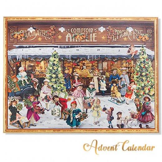 ドイツ クリスマス アドベントカレンダー【L】<クリスマス ショップ  幼子 ヤギ お菓子 プレゼント 天使>