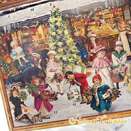ドイツ クリスマス アドベントカレンダー【L】<クリスマス ショップ  幼子 ヤギ お菓子 プレゼント 天使>【画像2】