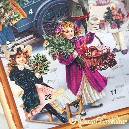 ドイツ クリスマス アドベントカレンダー【L】<クリスマス ショップ  幼子 ヤギ お菓子 プレゼント 天使>【画像3】