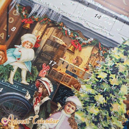 ドイツ クリスマス アドベントカレンダー【L】<クリスマス ショップ  幼子 ヤギ お菓子 プレゼント 天使>【画像5】