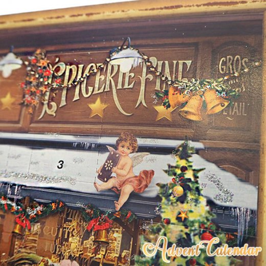 ドイツ クリスマス アドベントカレンダー【L】<クリスマス ショップ  幼子 ヤギ お菓子 プレゼント 天使>【画像7】