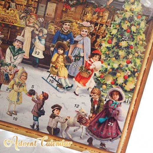 ドイツ クリスマス アドベントカレンダー【L】<クリスマス ショップ  幼子 ヤギ お菓子 プレゼント 天使>【画像9】