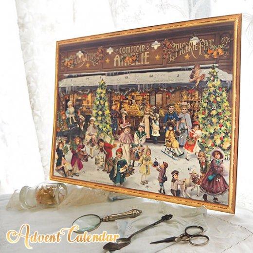 ドイツ クリスマス アドベントカレンダー【L】<クリスマス ショップ  幼子 ヤギ お菓子 プレゼント 天使>【画像10】
