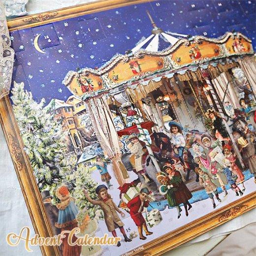 ドイツ クリスマス アドベントカレンダー【L】<メリーゴーラウンド サンタクロース  プレゼント クリスマスツリー>【画像2】