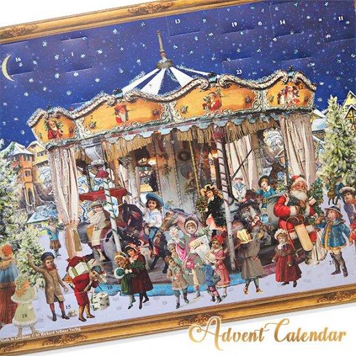 ドイツ クリスマス アドベントカレンダー【L】<メリーゴーラウンド サンタクロース  プレゼント クリスマスツリー>【画像11】