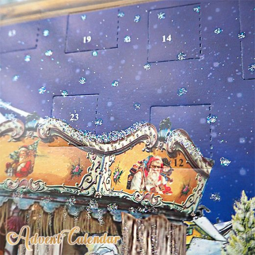 ドイツ クリスマス アドベントカレンダー【L】<メリーゴーラウンド サンタクロース  プレゼント クリスマスツリー>【画像4】