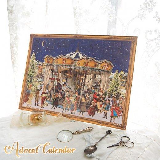 ドイツ クリスマス アドベントカレンダー【L】<メリーゴーラウンド サンタクロース  プレゼント クリスマスツリー>【画像5】