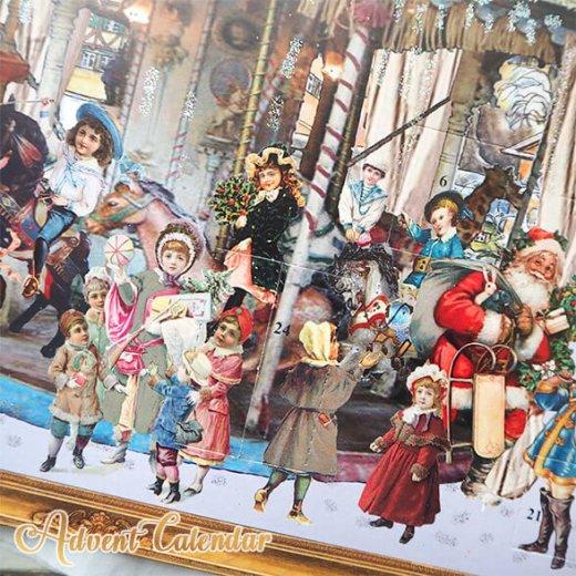 ドイツ クリスマス アドベントカレンダー【L】<メリーゴーラウンド サンタクロース  プレゼント クリスマスツリー>【画像7】