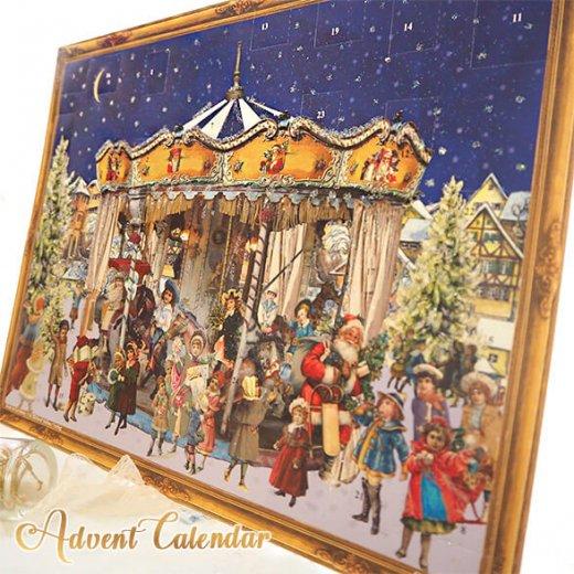 ドイツ クリスマス アドベントカレンダー【L】<メリーゴーラウンド サンタクロース  プレゼント クリスマスツリー>【画像8】