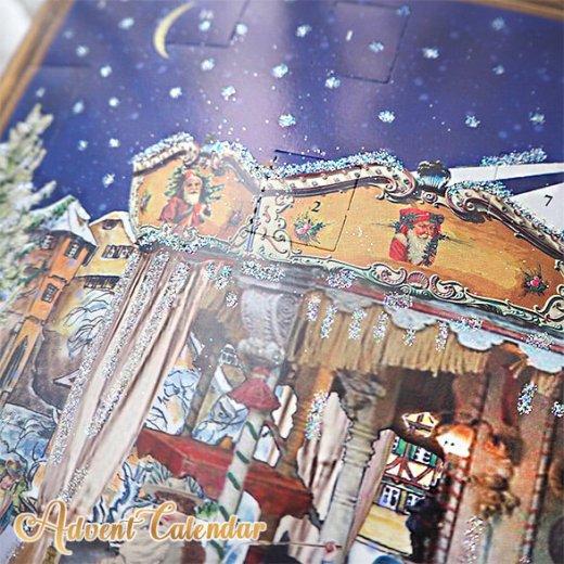 ドイツ クリスマス アドベントカレンダー【L】<メリーゴーラウンド サンタクロース  プレゼント クリスマスツリー>【画像9】
