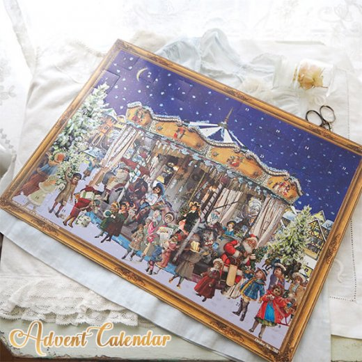 ドイツ クリスマス アドベントカレンダー【L】<メリーゴーラウンド サンタクロース  プレゼント クリスマスツリー>【画像10】