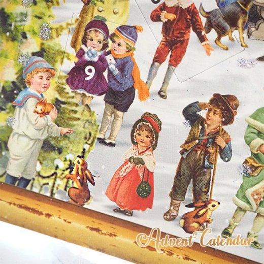 ドイツ クリスマス アドベントカレンダー【L】<カラフルなお家 幼子 犬 うさぎ バラ クリスマスツリー>【画像6】