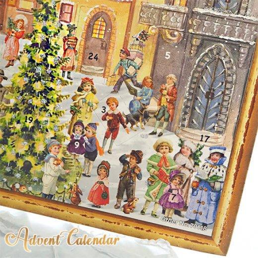 ドイツ クリスマス アドベントカレンダー【L】<カラフルなお家 幼子 犬 うさぎ バラ クリスマスツリー>【画像8】