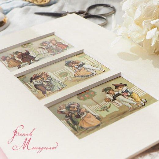 フランス ポストカード マウントボード仕様  封筒セット(中世 バラの小路)【画像2】
