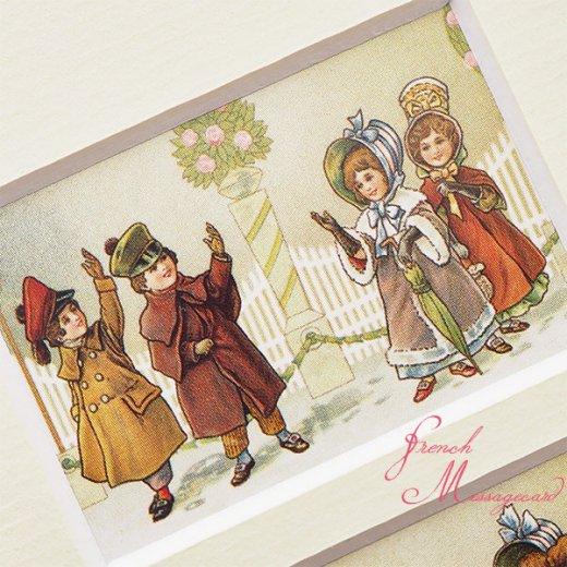 フランス ポストカード マウントボード仕様  封筒セット(中世 バラの小路)【画像3】
