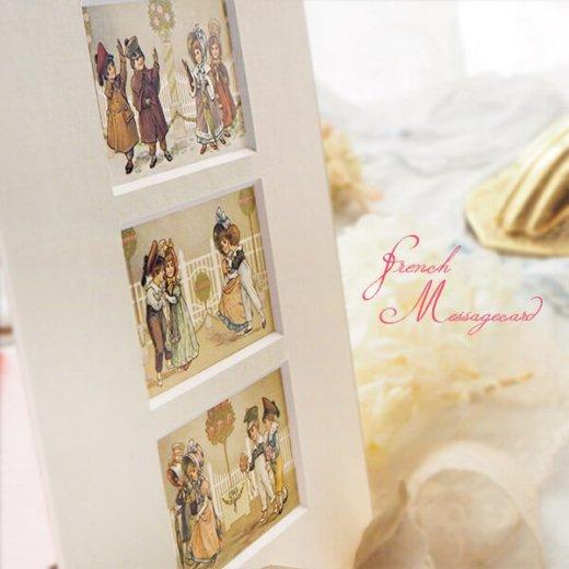 フランス ポストカード マウントボード仕様  封筒セット(中世 バラの小路)【画像6】