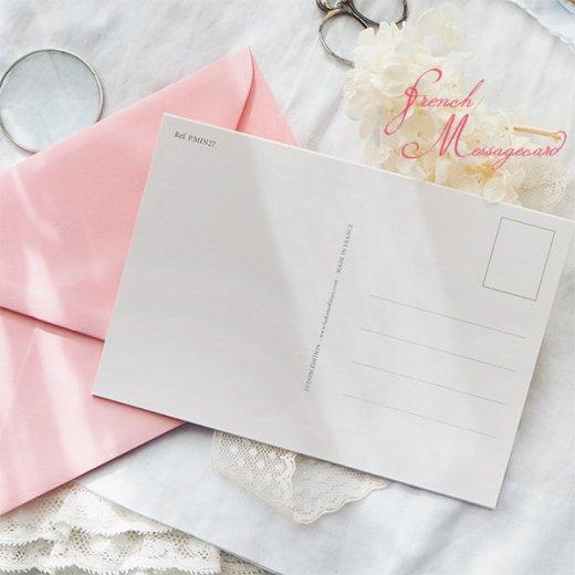 フランス ポストカード マウントボード仕様  封筒セット(中世 バラの小路)【画像8】