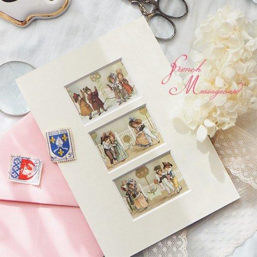 フランス ポストカード マウントボード仕様  封筒セット(中世 バラの小路)【画像9】