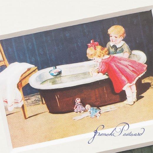 フランス ポストカード マウントボード仕様  封筒セット(お風呂の時間)【画像5】