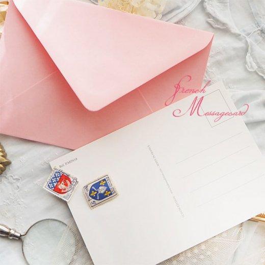 フランス ポストカード マウントボード仕様  封筒セット(犬と少女)【画像9】