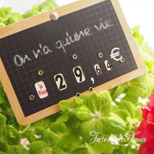 【単品販売】フランス蚤の市より ヴィンテージ パリ マルシェ プライスプレート プライスカード【画像8】