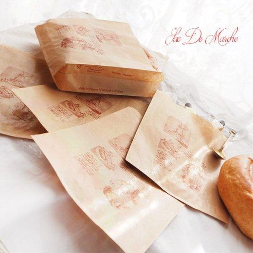 マルシェ袋 フランス 海外市場の紙袋 (Roue a eau Sサイズ)5枚セット【画像6】