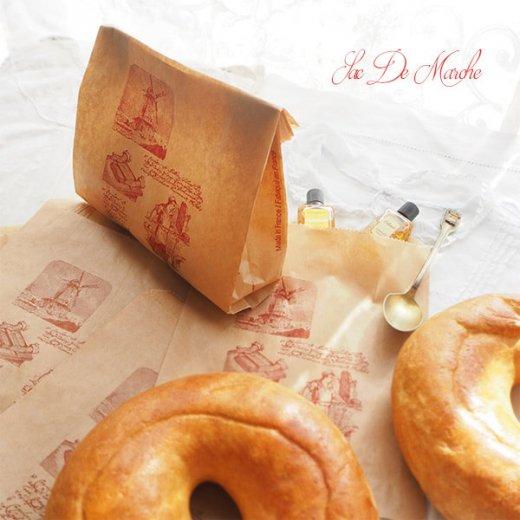 マルシェ袋 フランス 海外市場の紙袋 (Roue a eau Sサイズ)5枚セット【画像7】