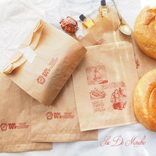 マルシェ袋 フランス 海外市場の紙袋 (Roue a eau Sサイズ)5枚セット【画像8】