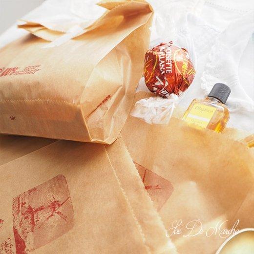 マルシェ袋 フランス 海外市場の紙袋 (Roue a eau Sサイズ)5枚セット【画像9】