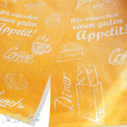 マルシェ袋 ドイツ 海外市場の紙袋(アペティ! オレンジ)5枚セット【画像2】