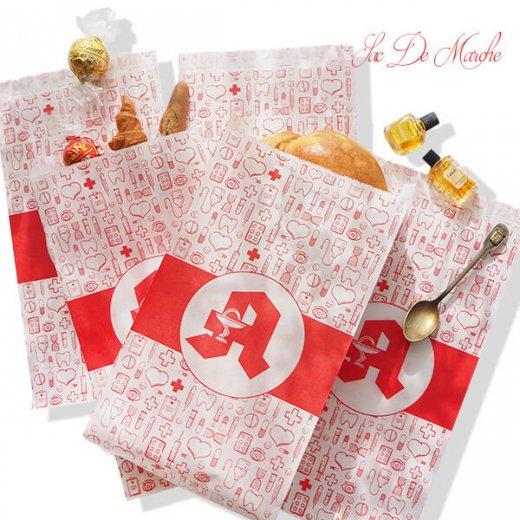 マルシェ袋 ドイツ 海外市場の紙袋(薬局 Bタイプ) 5枚セット