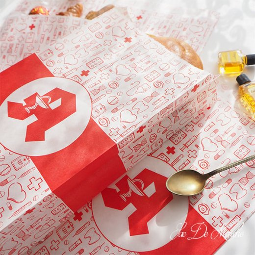 マルシェ袋 ドイツ 海外市場の紙袋(薬局 Bタイプ) 5枚セット 【画像2】