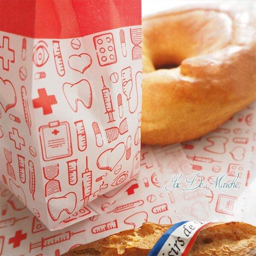 マルシェ袋 ドイツ 海外市場の紙袋(薬局 Bタイプ) 5枚セット 【画像3】