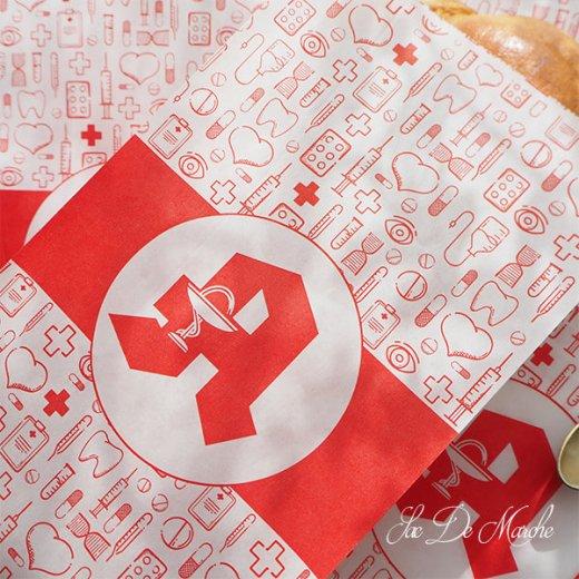 マルシェ袋 ドイツ 海外市場の紙袋(薬局 Bタイプ) 5枚セット 【画像4】