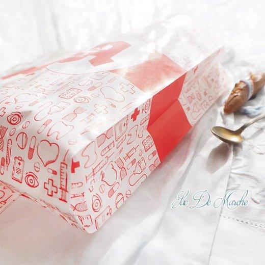マルシェ袋 ドイツ 海外市場の紙袋(薬局 Bタイプ) 5枚セット 【画像5】