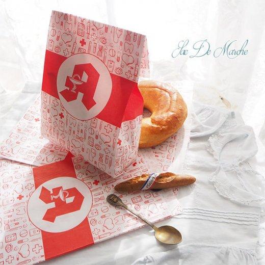 マルシェ袋 ドイツ 海外市場の紙袋(薬局 Bタイプ) 5枚セット 【画像6】