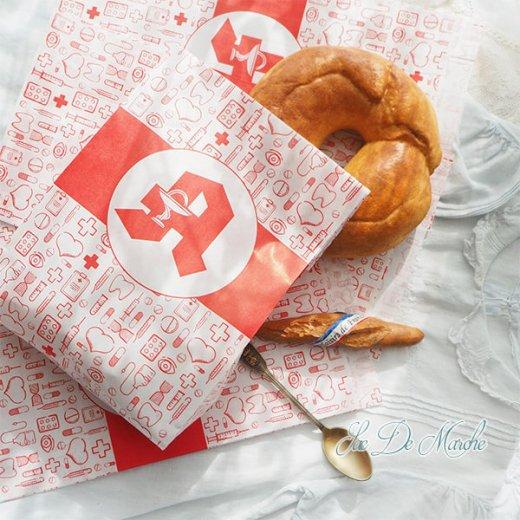 マルシェ袋 ドイツ 海外市場の紙袋(薬局 Bタイプ) 5枚セット 【画像8】