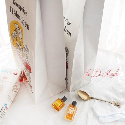 【単品販売】デッドストック マルシェ袋 ドイツ 海外市場の紙袋(サクサク チキン Lサイズ・Mサイズ)【画像2】