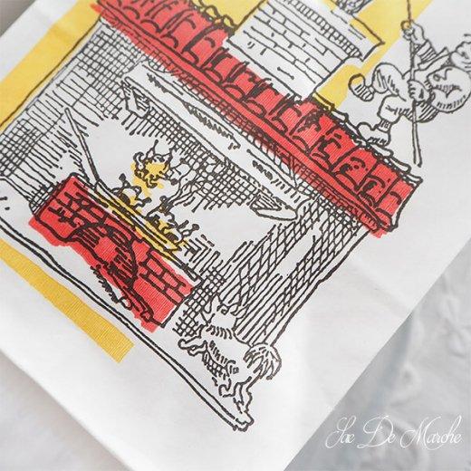 【単品販売】デッドストック マルシェ袋 ドイツ 海外市場の紙袋(サクサク チキン Lサイズ・Mサイズ)【画像3】