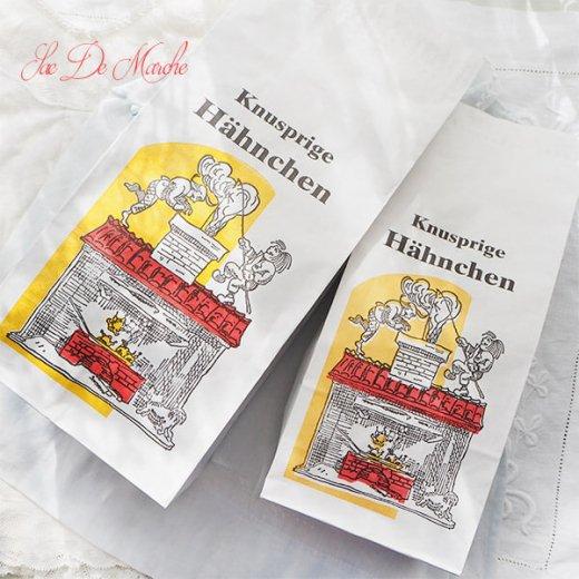 【単品販売】デッドストック マルシェ袋 ドイツ 海外市場の紙袋(サクサク チキン Lサイズ・Mサイズ)【画像5】