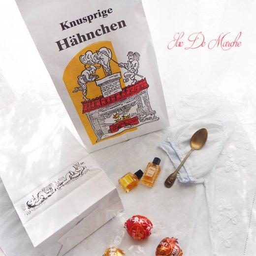 【単品販売】デッドストック マルシェ袋 ドイツ 海外市場の紙袋(サクサク チキン Lサイズ・Mサイズ)【画像7】