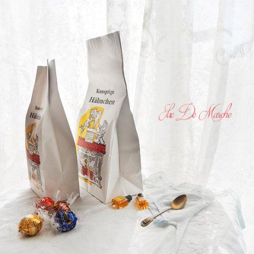 【単品販売】デッドストック マルシェ袋 ドイツ 海外市場の紙袋(サクサク チキン Lサイズ・Mサイズ)【画像8】