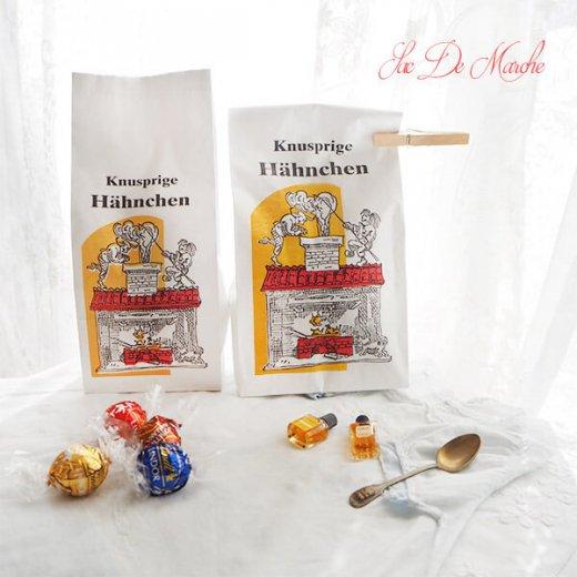 【単品販売】デッドストック マルシェ袋 ドイツ 海外市場の紙袋(サクサク チキン Lサイズ・Mサイズ)【画像9】