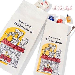 【単品販売】デッドストック マルシェ袋 ドイツ 海外市場の紙袋(サクサク チキン Lサイズ・Mサイズ)
