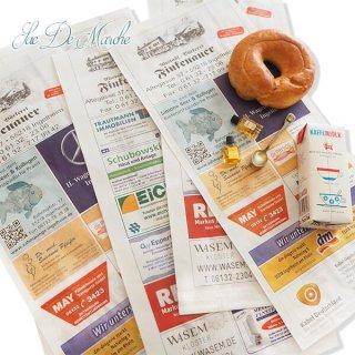 【大判】マルシェ袋 ドイツ 海外市場の紙袋(広告入り)5枚セット