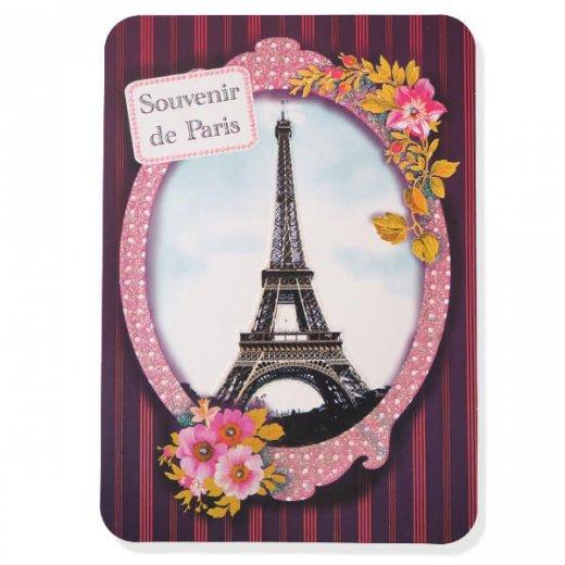 エッフェル塔 ポストカード (Souvenir de paris)キラキラ加工付き